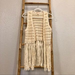 MK Boho Fringe Vest